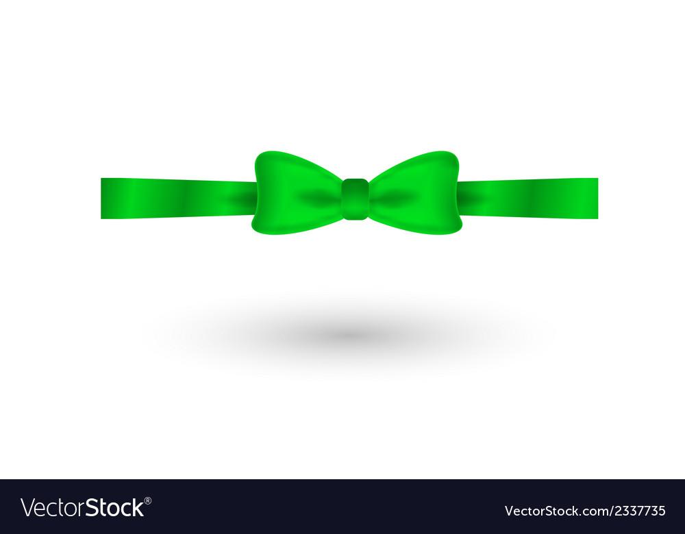 Green elegant bow vector   Price: 1 Credit (USD $1)