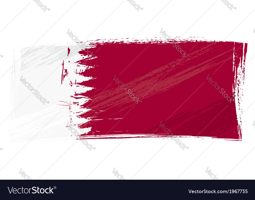 Grunge qatar flag vector | Price: 1 Credit (USD $1)