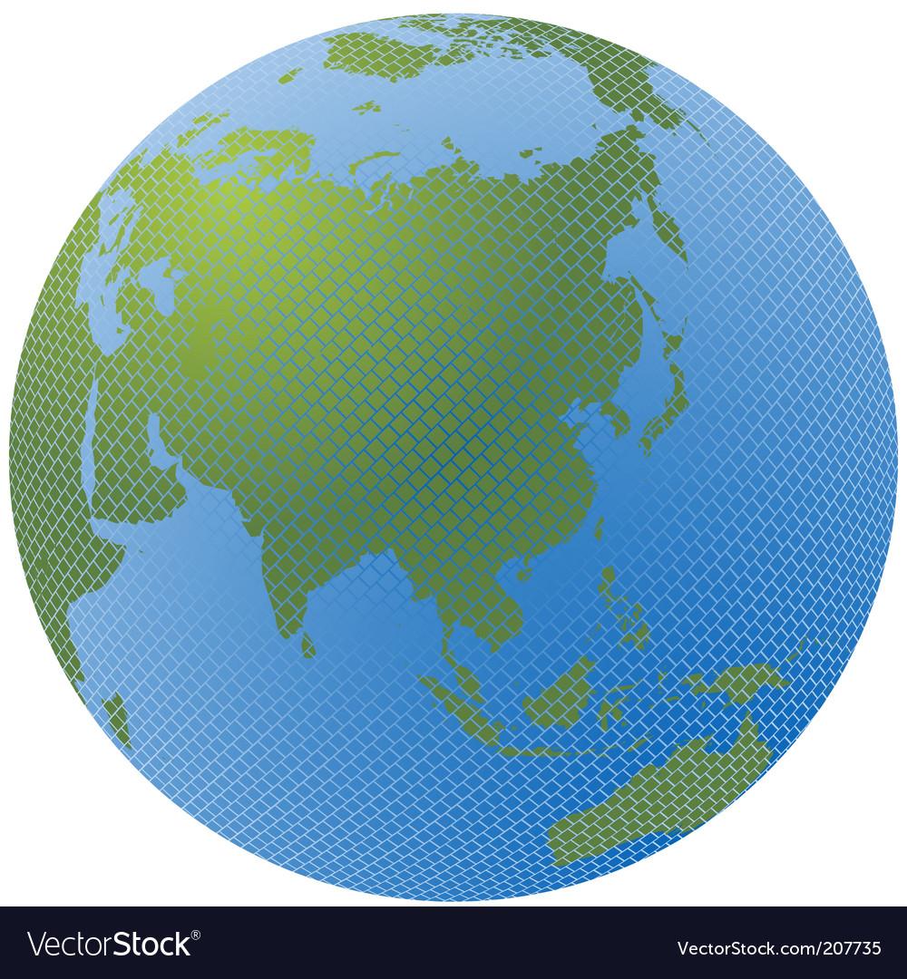 Mosaic globe vector | Price: 1 Credit (USD $1)