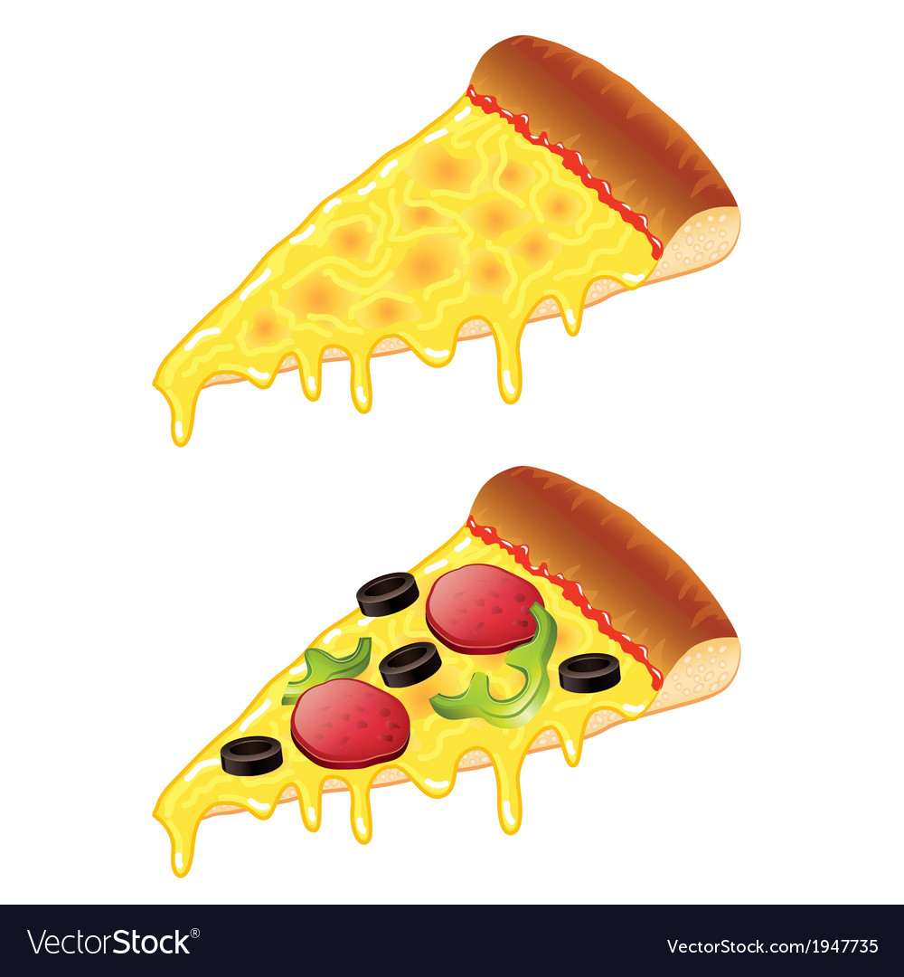 Object slice of pizza vector | Price: 1 Credit (USD $1)