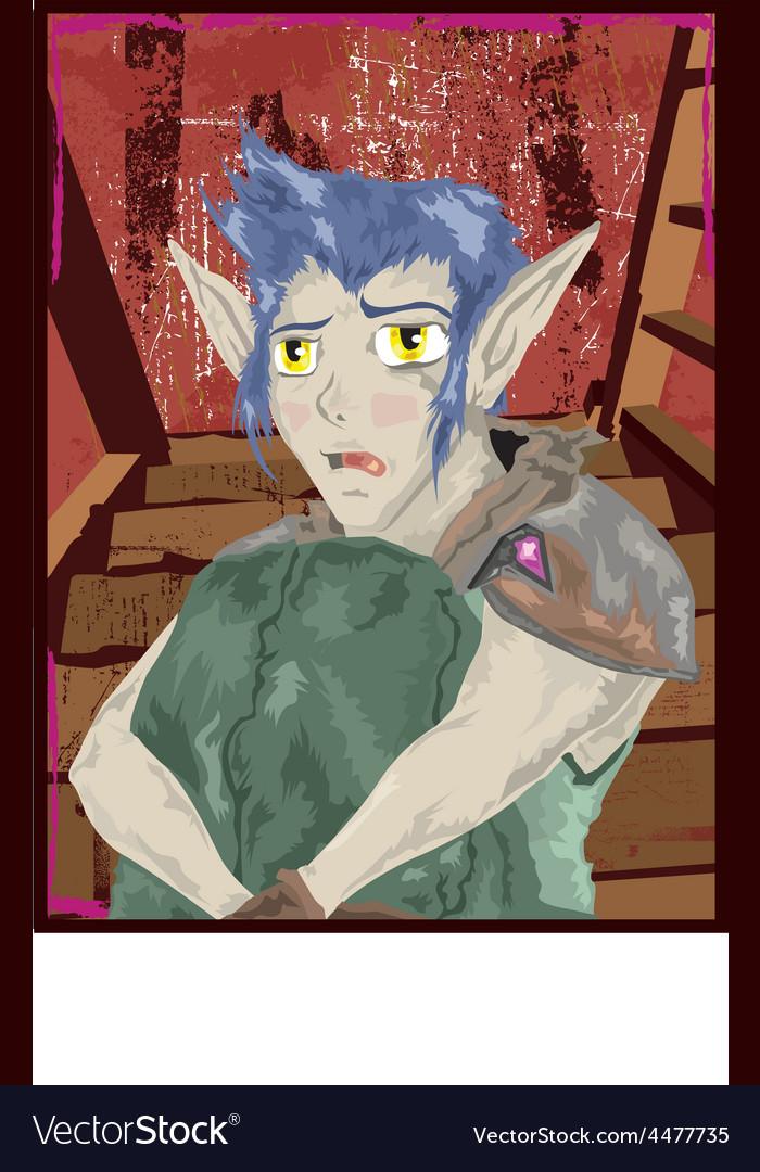 Scared elf vector | Price: 1 Credit (USD $1)