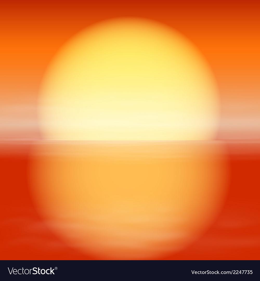 Sea sunset vector | Price: 1 Credit (USD $1)