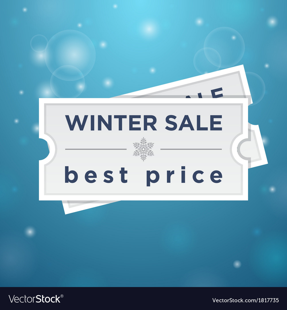 Two tickets to the winter sale and best price vector | Price: 1 Credit (USD $1)