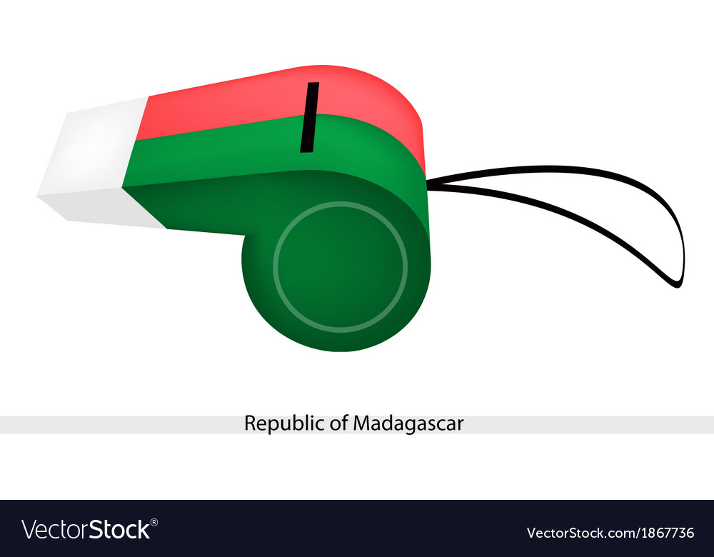 A whistle of the republic of madagascar vector | Price: 1 Credit (USD $1)