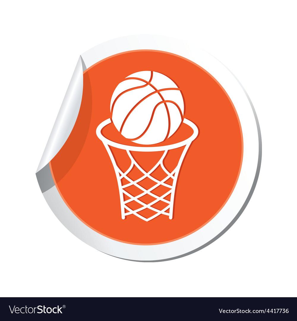 Basketball orange label vector | Price: 1 Credit (USD $1)