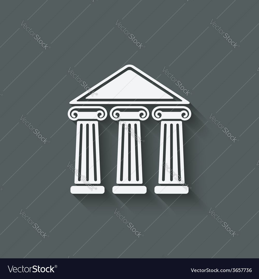 Building with columns vector | Price: 1 Credit (USD $1)