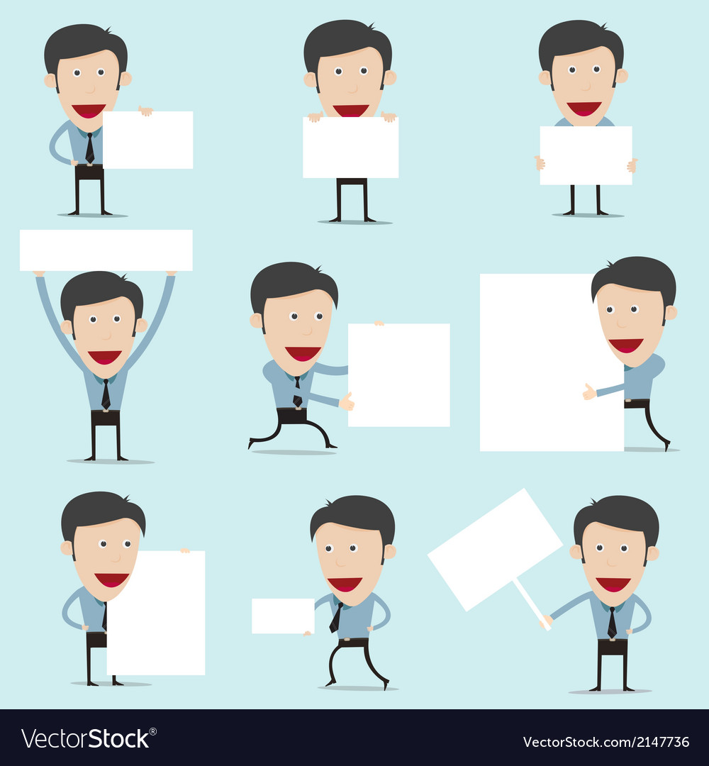 Cartoon present information on whiteboard vector | Price: 1 Credit (USD $1)