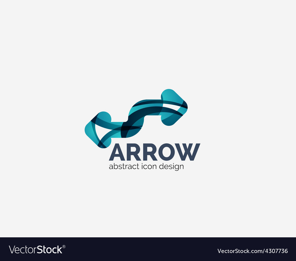 Clean moden wave design arrow logo vector | Price: 1 Credit (USD $1)