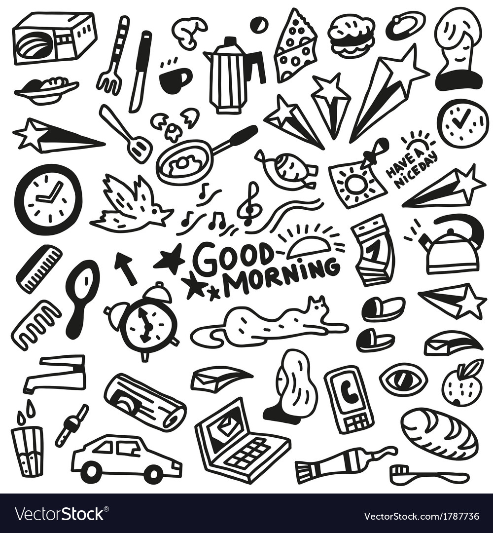 Good morning doodles - vector | Price: 1 Credit (USD $1)