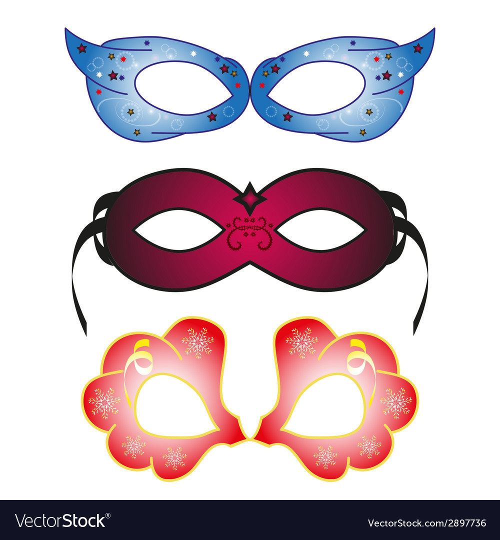 Masquerade party masks vector | Price: 1 Credit (USD $1)