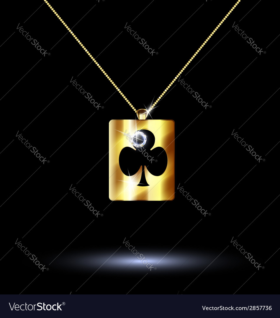 Pendant card suit clubs vector | Price: 1 Credit (USD $1)