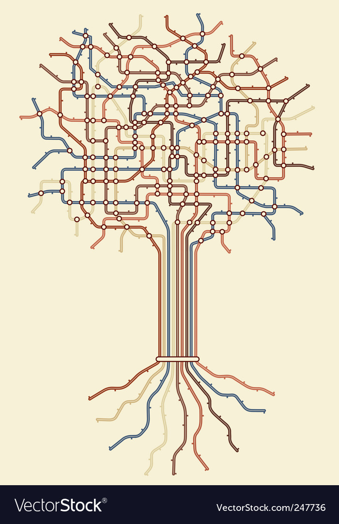 Subway tree vector | Price: 1 Credit (USD $1)