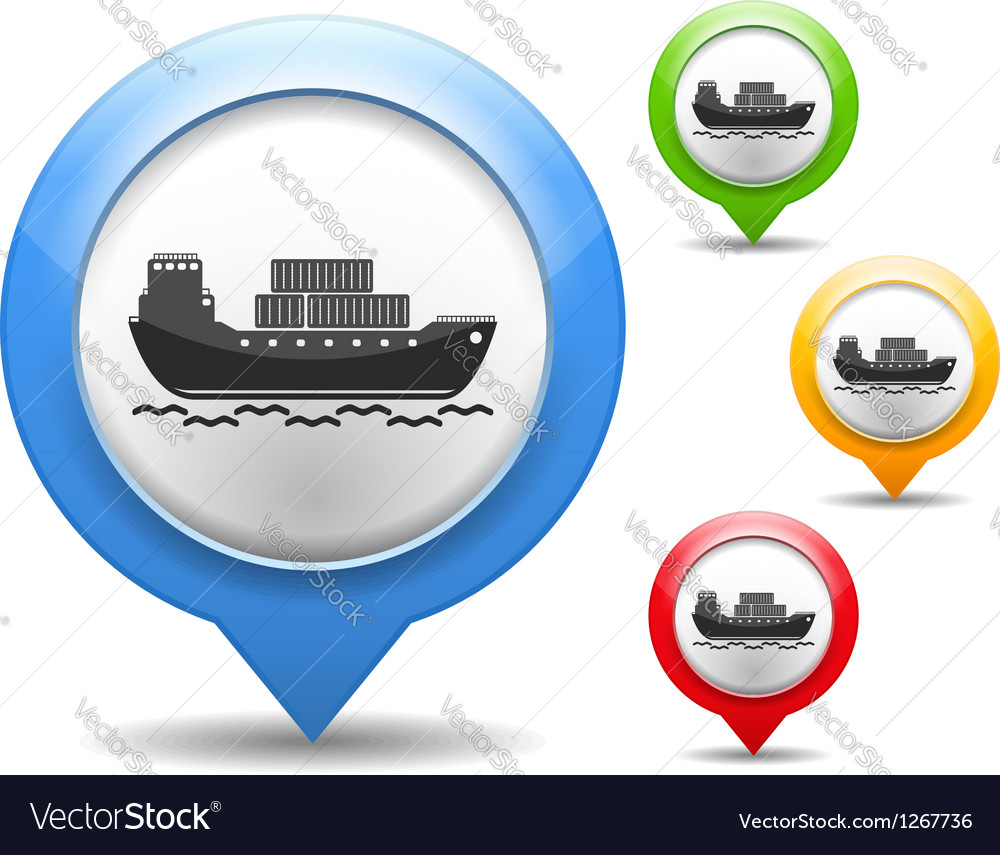 Transport barge icon vector | Price: 1 Credit (USD $1)