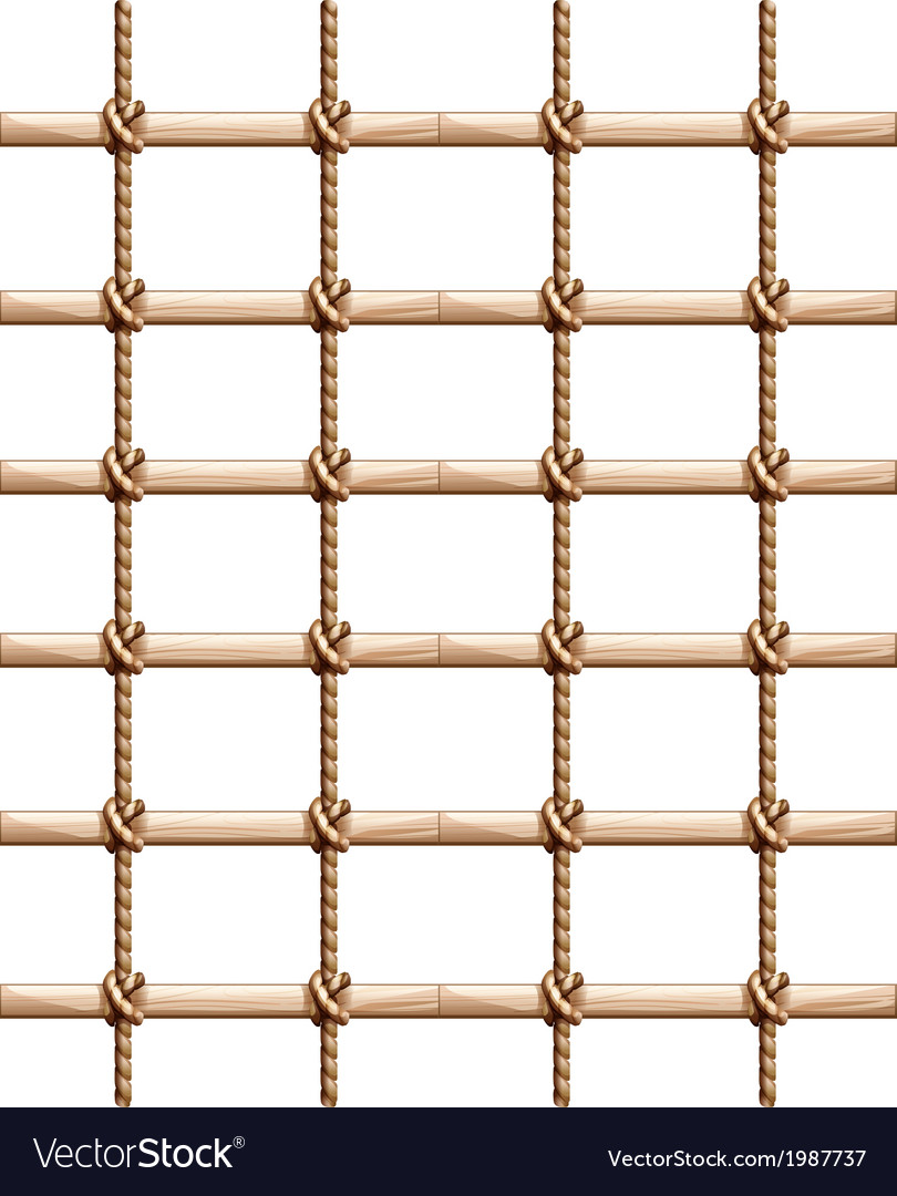 A fence made of wood and rope vector | Price: 1 Credit (USD $1)