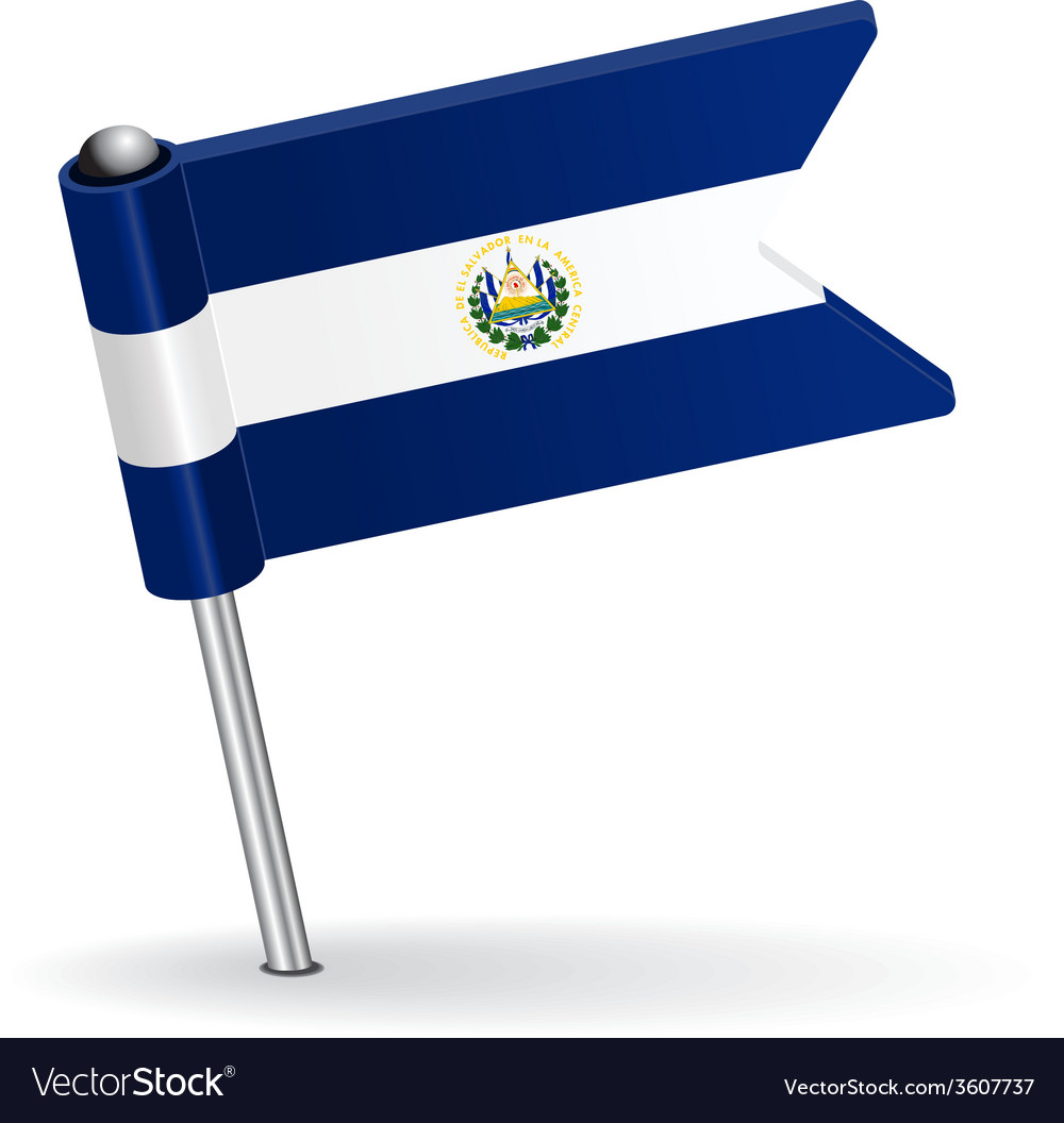 El salvador pin icon flag vector | Price: 1 Credit (USD $1)