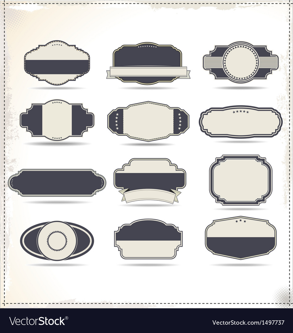 Empty vintage labels vector | Price: 3 Credit (USD $3)