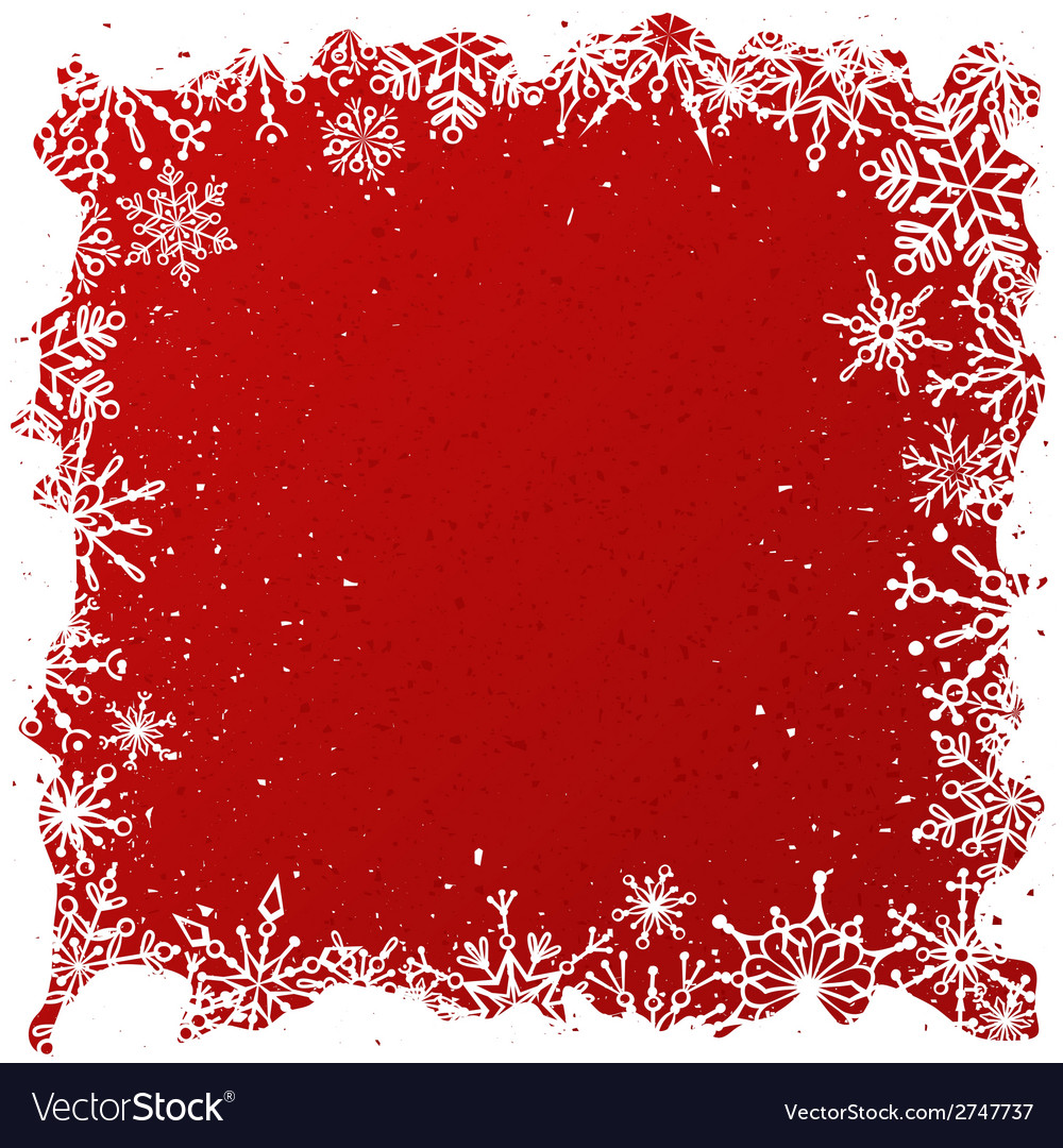 Grunge red christmas background vector | Price: 1 Credit (USD $1)
