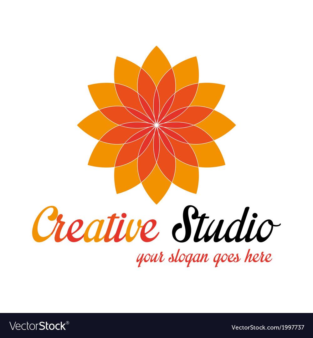 Orange media logo template vector | Price: 1 Credit (USD $1)