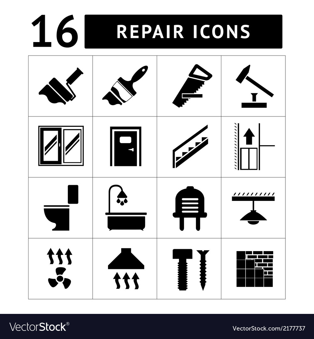 Set icons repair and building vector | Price: 1 Credit (USD $1)
