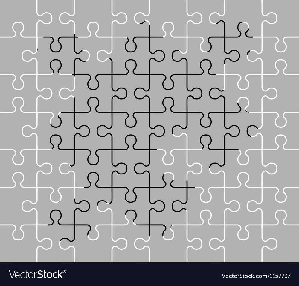 Stencil of puzzle pieces fourth variant vector | Price: 1 Credit (USD $1)