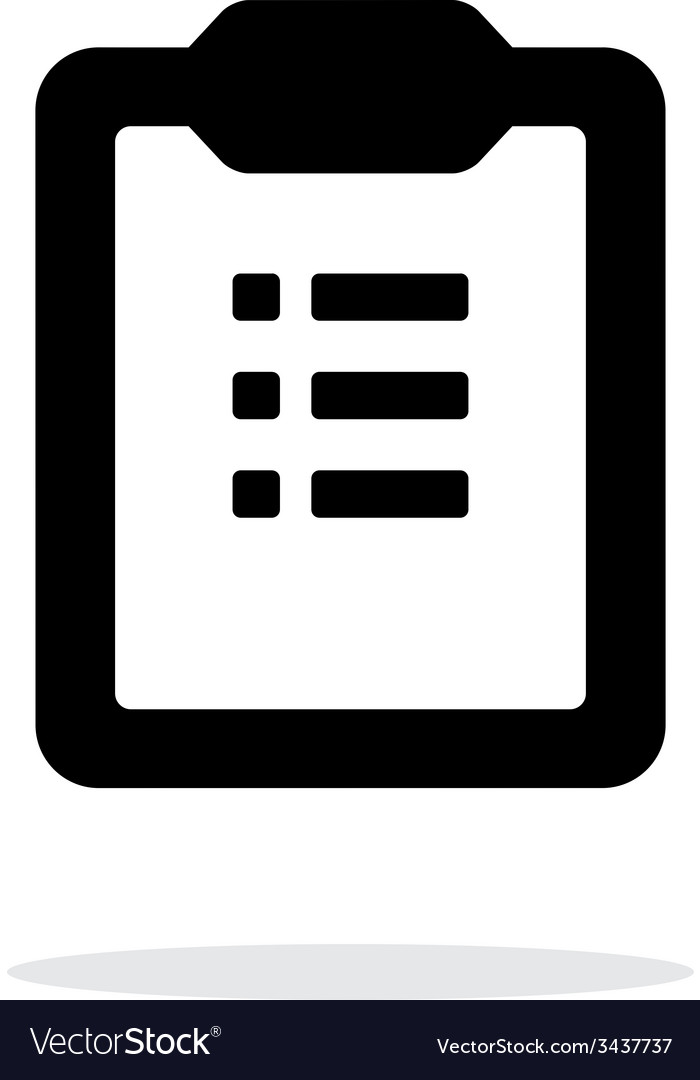 To-do list simple icon on white background vector | Price: 1 Credit (USD $1)