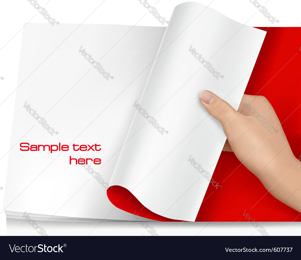 Turning page vector | Price: 1 Credit (USD $1)