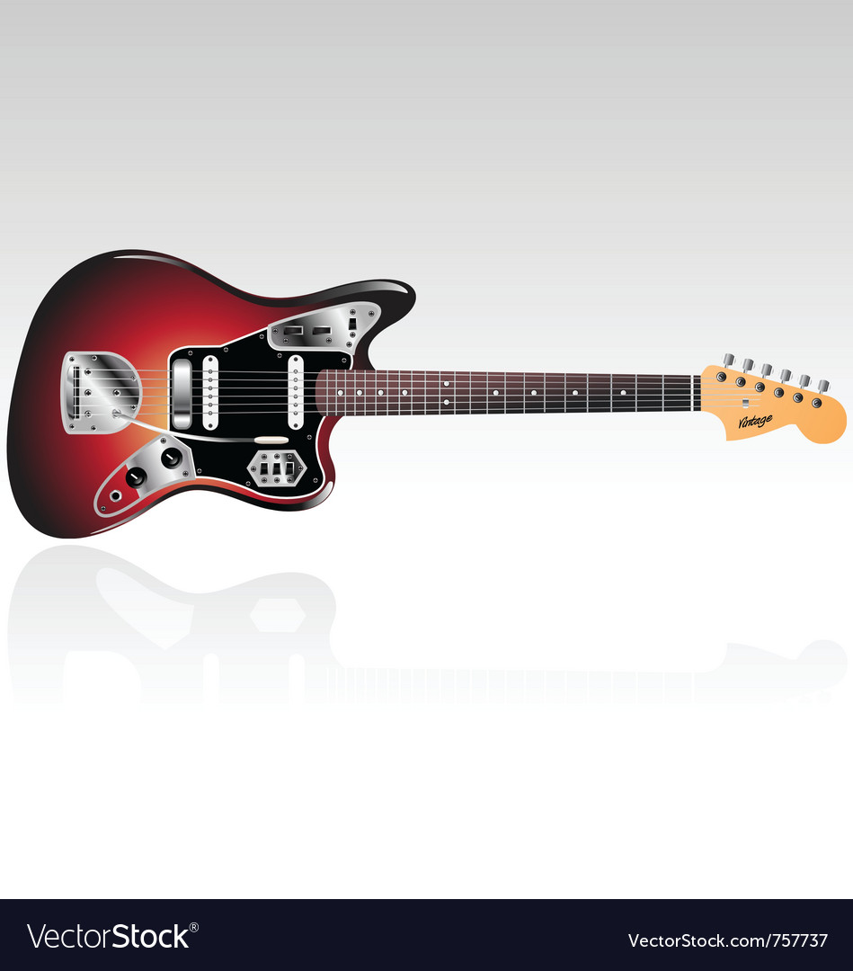 Vintage electric guitar vector | Price: 1 Credit (USD $1)