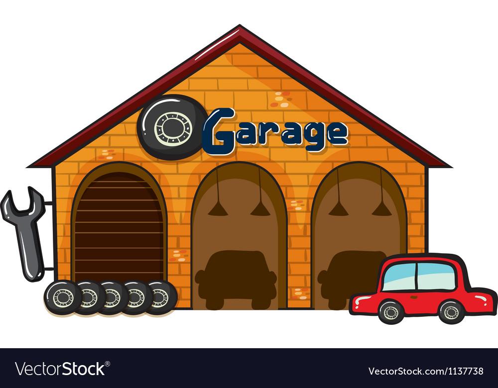 A garage vector | Price: 1 Credit (USD $1)