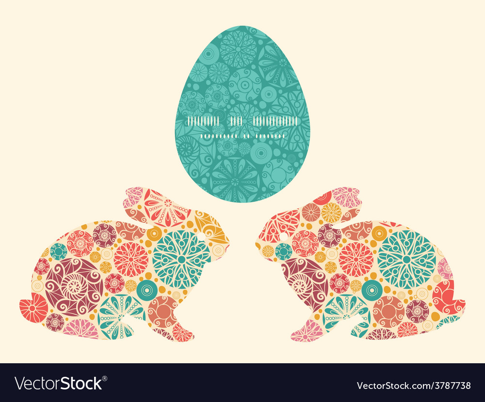 Abstract decorative circles bunny rabbit vector | Price: 1 Credit (USD $1)