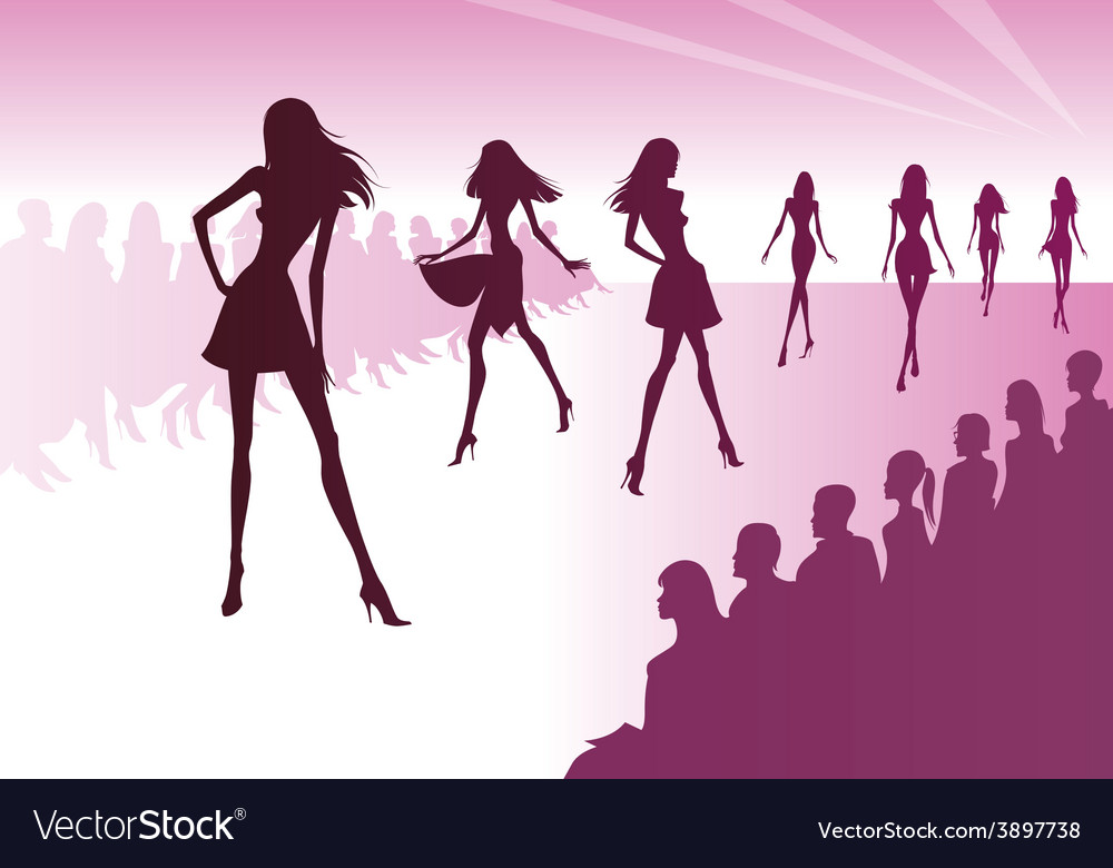 Fashion models represent new clothes vector | Price: 1 Credit (USD $1)