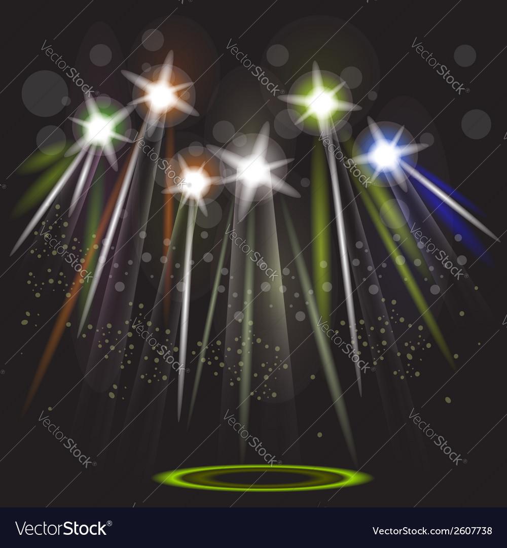 Neon spotlight background vector | Price: 1 Credit (USD $1)