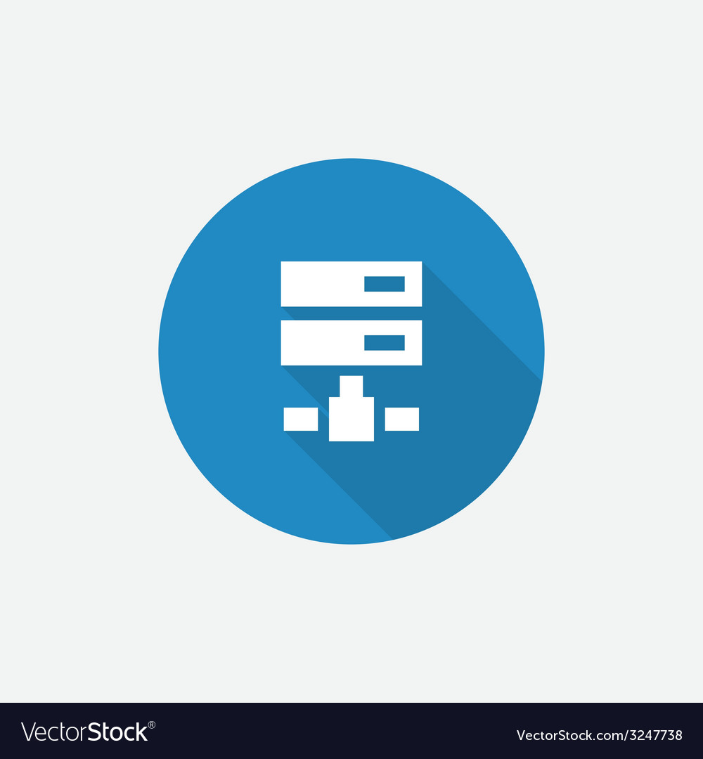 Net drive flat blue simple icon with long shadow vector | Price: 1 Credit (USD $1)