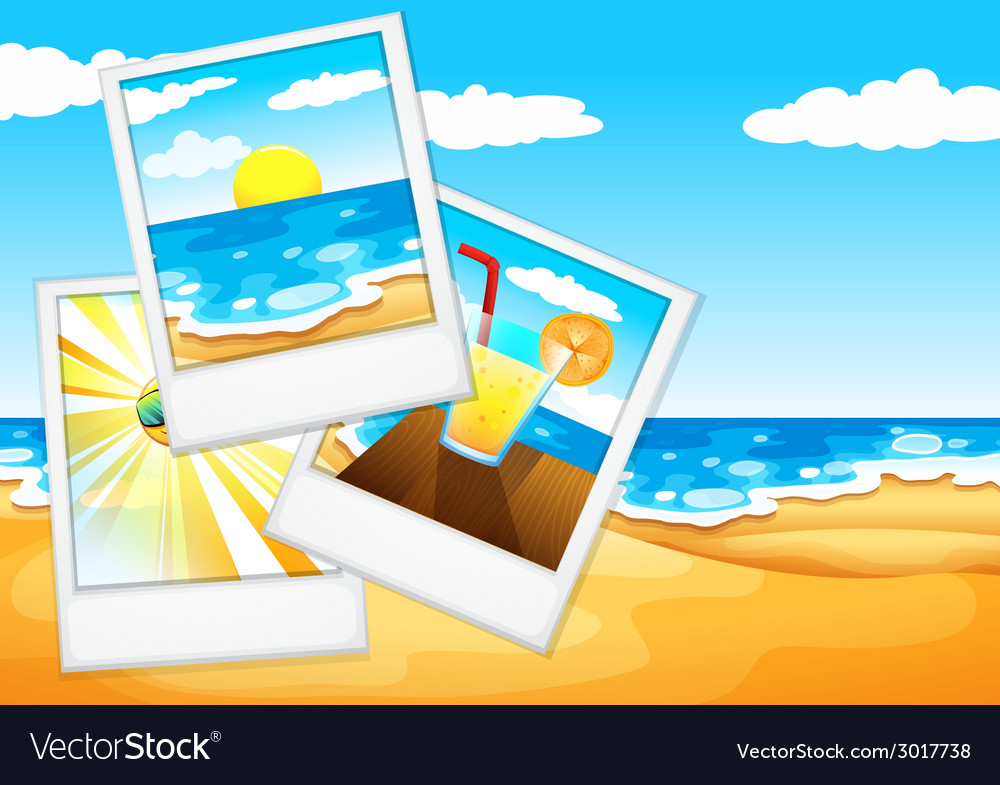 Photos at the beach vector | Price: 1 Credit (USD $1)
