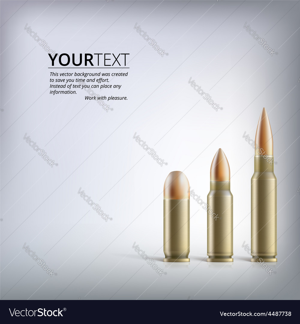 Rifle bullets vector | Price: 3 Credit (USD $3)
