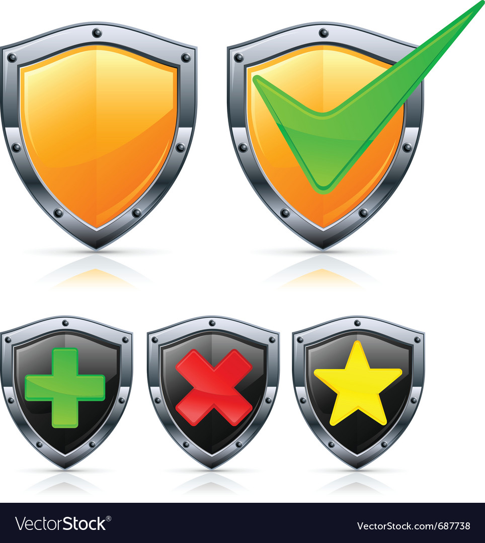 Shield security vector | Price: 1 Credit (USD $1)