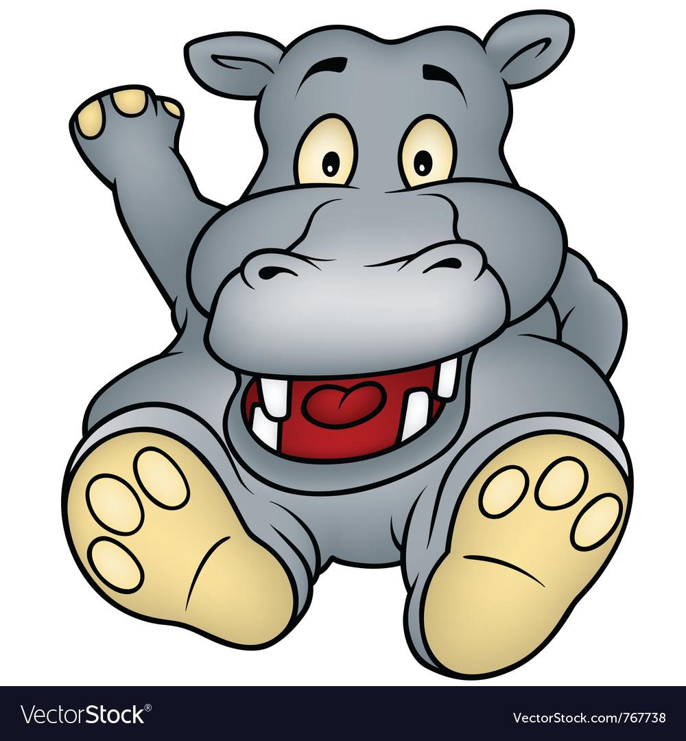 Sitting hippo vector | Price: 1 Credit (USD $1)