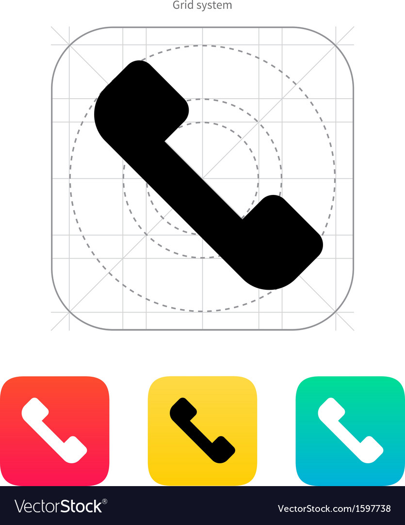Telephone receiver icon answer the call vector | Price: 1 Credit (USD $1)