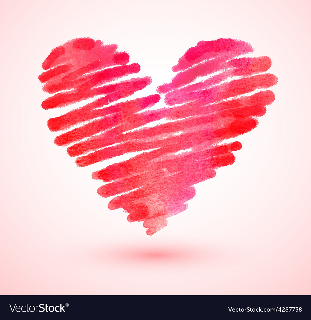 Watercolor scribble heart vector | Price: 1 Credit (USD $1)