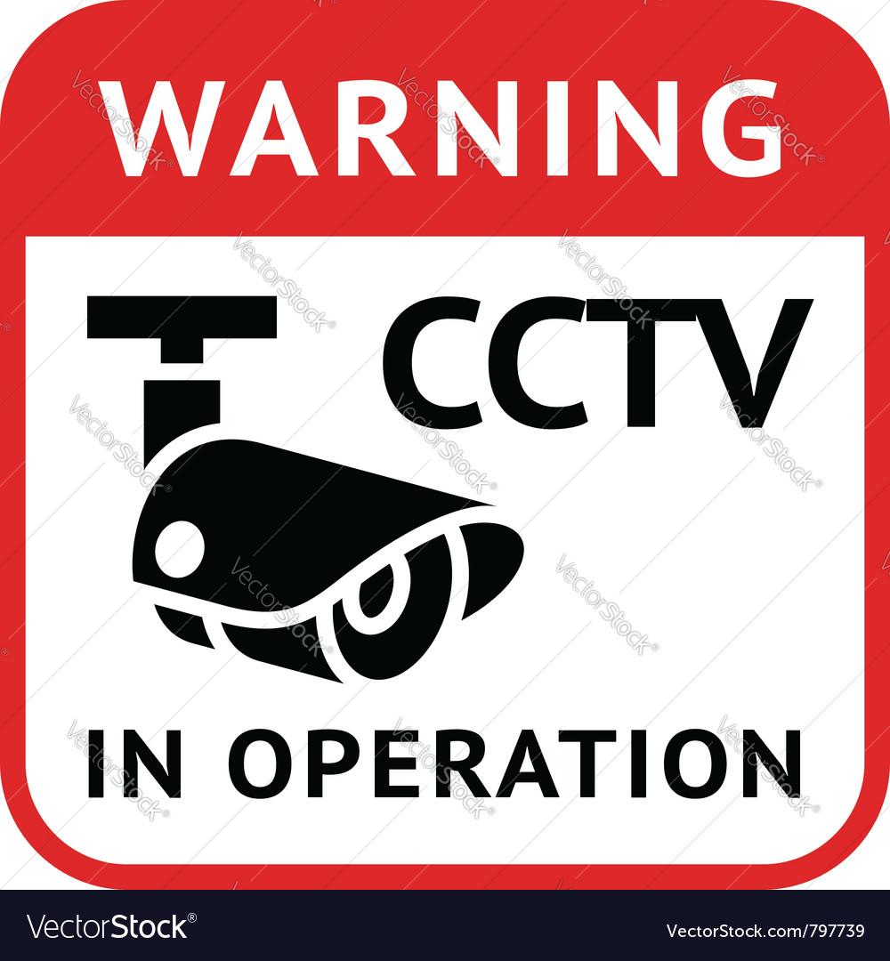 Cctv warning symbol vector | Price: 1 Credit (USD $1)
