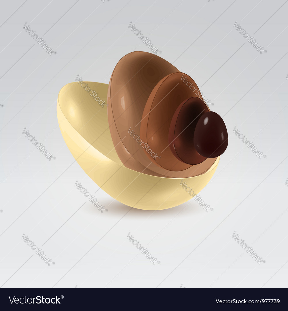 Chocolate shells vector | Price:  Credit (USD $)