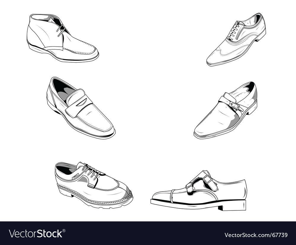 Classic shoes vector | Price: 1 Credit (USD $1)