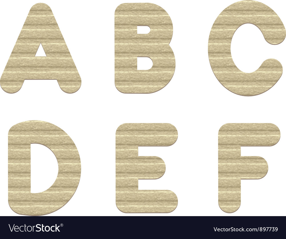 Embossed cardboard letters vector | Price: 1 Credit (USD $1)