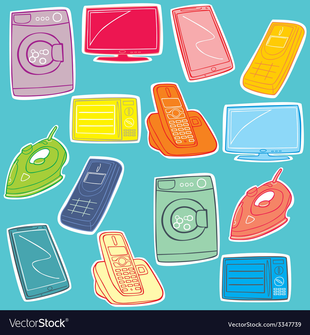 Home appliance vector | Price: 1 Credit (USD $1)