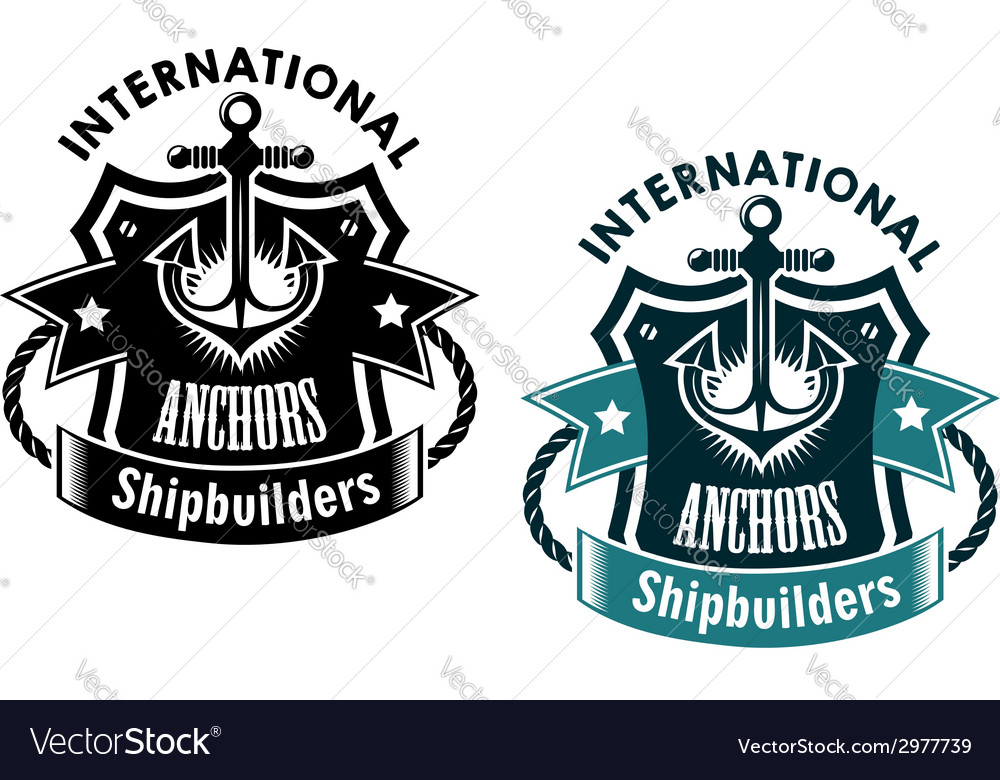 Marine international shipbuilders banner vector | Price: 1 Credit (USD $1)