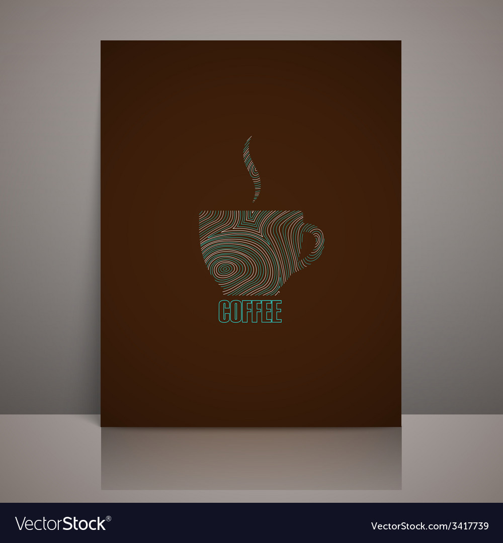 Menu design with coffee sign vector | Price: 1 Credit (USD $1)