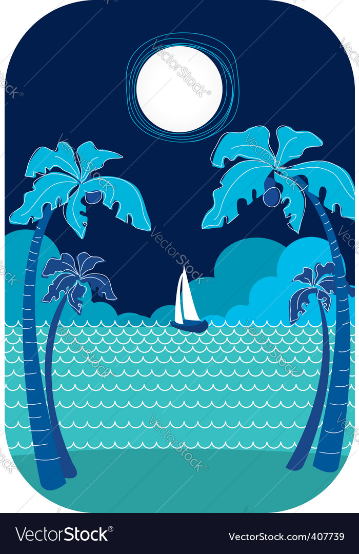 Sea nature vector | Price: 1 Credit (USD $1)