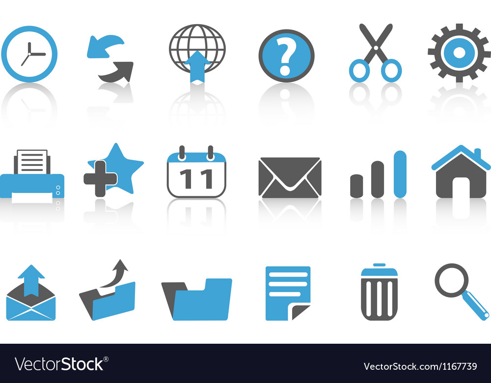 Toolbar icons setblue series vector | Price: 1 Credit (USD $1)