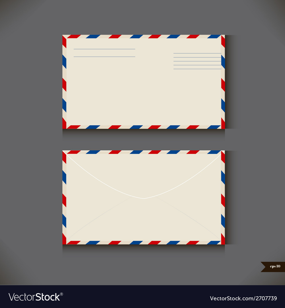 Two airmail envelope on gray background vector | Price: 1 Credit (USD $1)