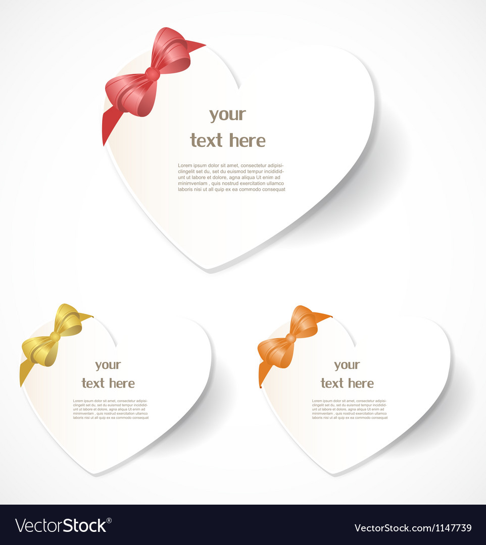 Valentines day labels vector | Price: 1 Credit (USD $1)