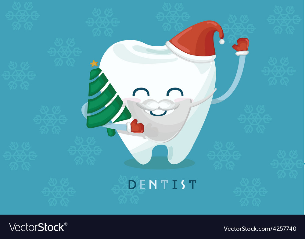 Christmas tooth vector | Price: 3 Credit (USD $3)